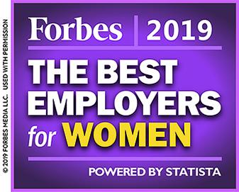 Forbes 2019: The Best Employers for Women Powered by Statista Copyright 2019 Forbes Media LLC. Used with permission